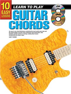 10 Easy Lessons: Learn To Play Guitar Chords Books, CDs and DVDs / Videos | Guitar
