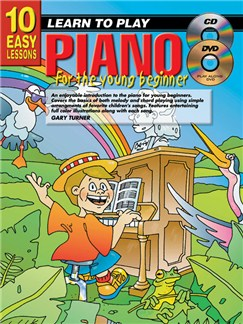 10 Easy Lessons: Learn To Play Piano For Young Beginners Books, CDs and DVDs / Videos | Piano