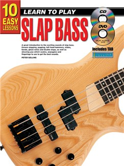 10 Easy Lessons: Learn To Play Slap Bass Books, CDs and DVDs / Videos | Bass Guitar