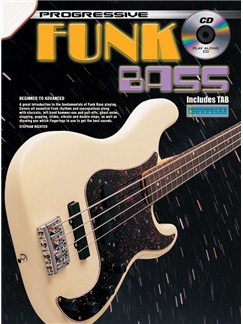 Progressive: Funk Bass (Book/CD) Books and CDs | Bass Guitar