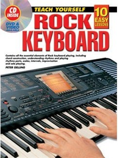 10 Easy Lessons: Rock Keyboard (Book/CD) Books and CDs | Keyboard