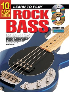 10 Easy Lessons: Learn To Play Rock Bass Books, CDs and DVDs / Videos | Bass Guitar