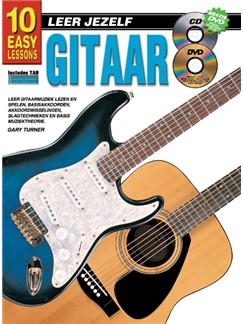Gary Turner: 10 Easy Lessons Gitaar (Book/CD/DVD) (Dutch Language Edition) Books, CDs and DVDs / Videos | Guitar