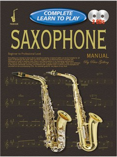 Progressive Complete Learn To Play Saxophone Manual Books and CDs | Saxophone