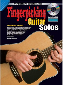 Progressive Fingerpicking Guitar Solos Books and CDs | Guitar