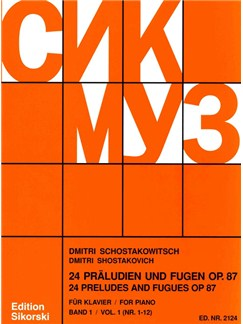 Dmitri Shostakovich: 24 Preludes And Fugues For Piano Op.87 Vol 1 Books | Piano