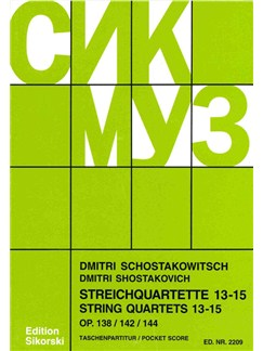 Dmirti Shostakovich: String Quartets 13 - 15 Books | String Quartet