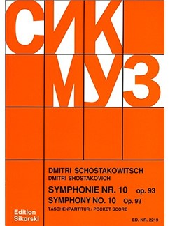 Dmitri Shostakovich: Symphony No. 10 (Score) Books | Orchestra