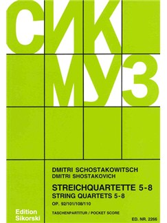 Dmitri Shostakovich: String Quartets 5 - 8 Books | String Quartet