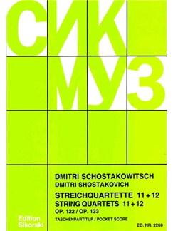 Dmitri Shostakovich: String Quartets 11 - 12 Books | String Quartet