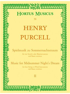 H. Purcell: Incidental Music For A Midsummer Night's Dream - Part 2 - From The Opera The Fairy Queen (Full Score) Books | String Ensemble