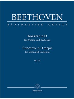Ludwig Van Beethoven: Concerto For Violin In D, Op.61 (Urtext) - Study Score Books | Orchestra, Violin