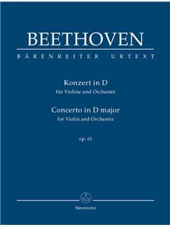 Ludwig Van Beethoven: Concerto For Violin In D, Op.61 (Urtext) - Study Score Libro | Violín, Orquesta