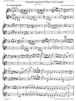 G.F. Handel: Concerto Grosso In G Major Op.6 No.1 (Violin 2 Solo And Ripieno) Books | Violin
