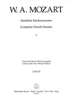W. A. Mozart: Church Sonatas Vol 5 C Major K.263 (Violin II) Books | Orchestra, Organ