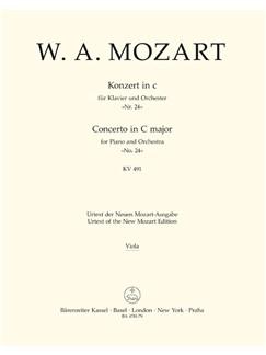 W.A. Mozart: Piano Concerto In C Minor K.491 (Viola) Books | Orchestra, Piano