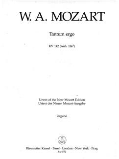 W. A. Mozart: Tantum Ergo in B-flat K.142 (Trumpet I/II) Books   Choral