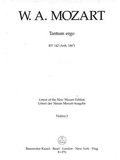 W. A. Mozart: Tantum Ergo in B-flat K.142 (Violin I) Books | Choral