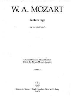W. A. Mozart: Tantum Ergo In B-flat K.142 (Violin II) Books | Choral