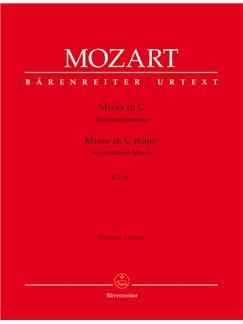 W. A. Mozart: Mass In C K.317 Coronation Mass (Full Score) Books | Orchestra, SATB