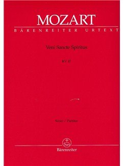 W. A. Mozart: Veni Sancte Spiritus K.47 (Full Score) Books | Orchestra
