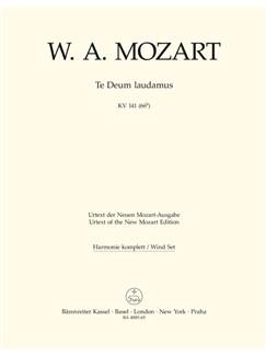 W. A. Mozart: Te Deum Laudamus In C K.141 (Wind Set) Books | Orchestra