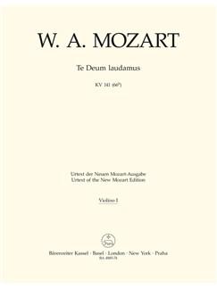 W. A. Mozart: Te Deum Laudamus In C K.141 (Violin I) Books | Orchestra