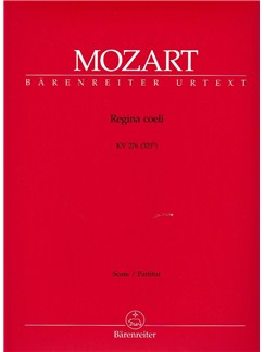 W. A. Mozart: Regina Coeli In C K.276 (Full Score) Books | Orchestra