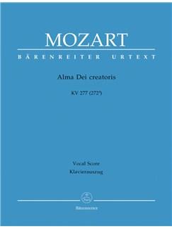 Wolfgang Amadeus Mozart: Alma Dei Creatoris (K.277) (Urtext) (Vocal Score) Books | SATB, Organ Accompaniment