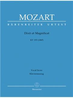 Wolfgang Amadeus Mozart: Dixit Et Magnificat (K.193) (Urtext) (Vocal Score) Books | SATB, Organ Accompaniment
