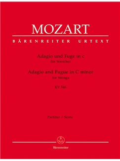 W. A. Mozart: Adagio And Fugue For Strings In C Minor K.546 (Score And Parts) Books | String Ensemble
