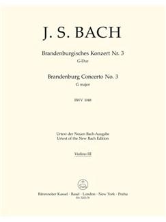 J.S. Bach: Brandenburg Concerto No.3 In G, BWV 1048 (Violin III) Books | Orchestra