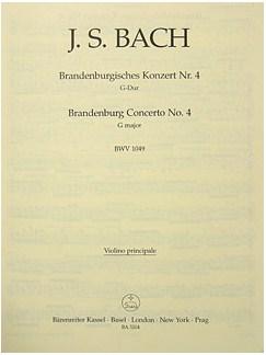 J.S. Bach: Brandenburg Concerto No.4 In G, BWV 1049 (Solo Violin) Books | Orchestra
