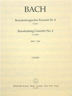 J.S. Bach: Brandenburg Concerto No.4 In G, BWV 1049 (Cembalo) Books | Orchestra