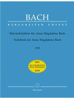 J.S. Bach: Notebook for Anna Magdalena Bach 1725 (Piano with fingerings) Books | Piano