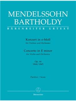 F. Mendelssohn: Violin Concerto In E Minor Op.64 (Full Score) Books | Orchestra, Violin