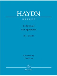 J. Haydn: Lo Speziale - The  Apothecary Hob.XXVIII:3 (Vocal Score) Books | Opera