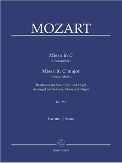 W. A. Mozart: Mass In C Major K.257 - Credo Mass: Version For Choir & Organ Books | Choral, SATB, Organ Accompaniment