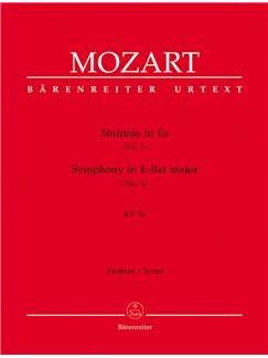 W. A. Mozart: Symphony No.1 In E-Flat K.16 (Full Score) Books | Orchestra