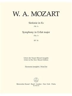 W. A. Mozart: Symphony No.1 In E-Flat K.16 (Wind Set) Books | Orchestra