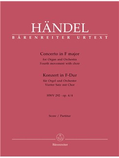 G. F. Handel: Organ Concerto Op.4/ 4 In F - 4th Movement HWV 292 (Full Score) Books | Choral, Orchestra, Organ