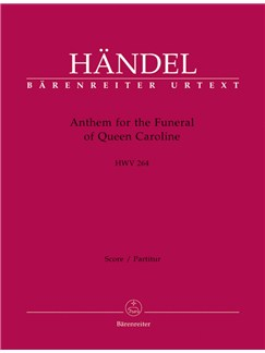G. F. Handel: Anthem For The Funeral Of Queen Caroline HWV 264 (Full Score) Books | Choral, Orchestra