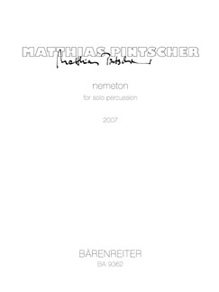 M. Pintscher: Nemeton For Solo Percussion Books | Percussion