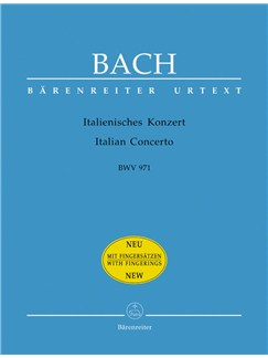 J.S. Bach: Italian Concerto BWV 971 With Fingering Books | Harpsichord, Piano
