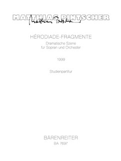 M. Pintscher: Herodiade-Fragmente Books | Orchestra, Soprano