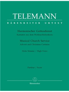 G. P. Telemann: Der Harmonische Gottesdienst - Advent And Christmas: High Voice (Score & Parts) Books | High Voice