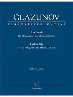 A. Glazunov: Alto Saxophone Concerto Op.109 (Full Score) Books | Alto Saxophone, Orchestra
