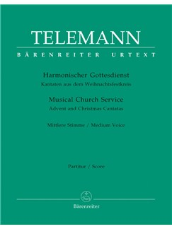 G. P. Telemann: Der Harmonische Gottesdienst -  Advent And Christmas: Medium Voice (Score & Parts) Books | Medium Voice