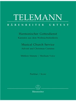 G. P. Telemann: Der Harmonische Gottesdienst -  Advent And Christmas: Medium Voice (Full Score) Books | Medium Voice