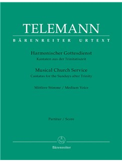G. P. Telemann: Der Harmonische Gottesdienst - Cantatas For The Sundays After Trinity: Medium Voice (Full Score) Books | Medium Voice